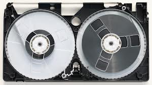 opened vhs tape