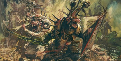 Skaven army, representing the Warhammer Quest Monsters Section
