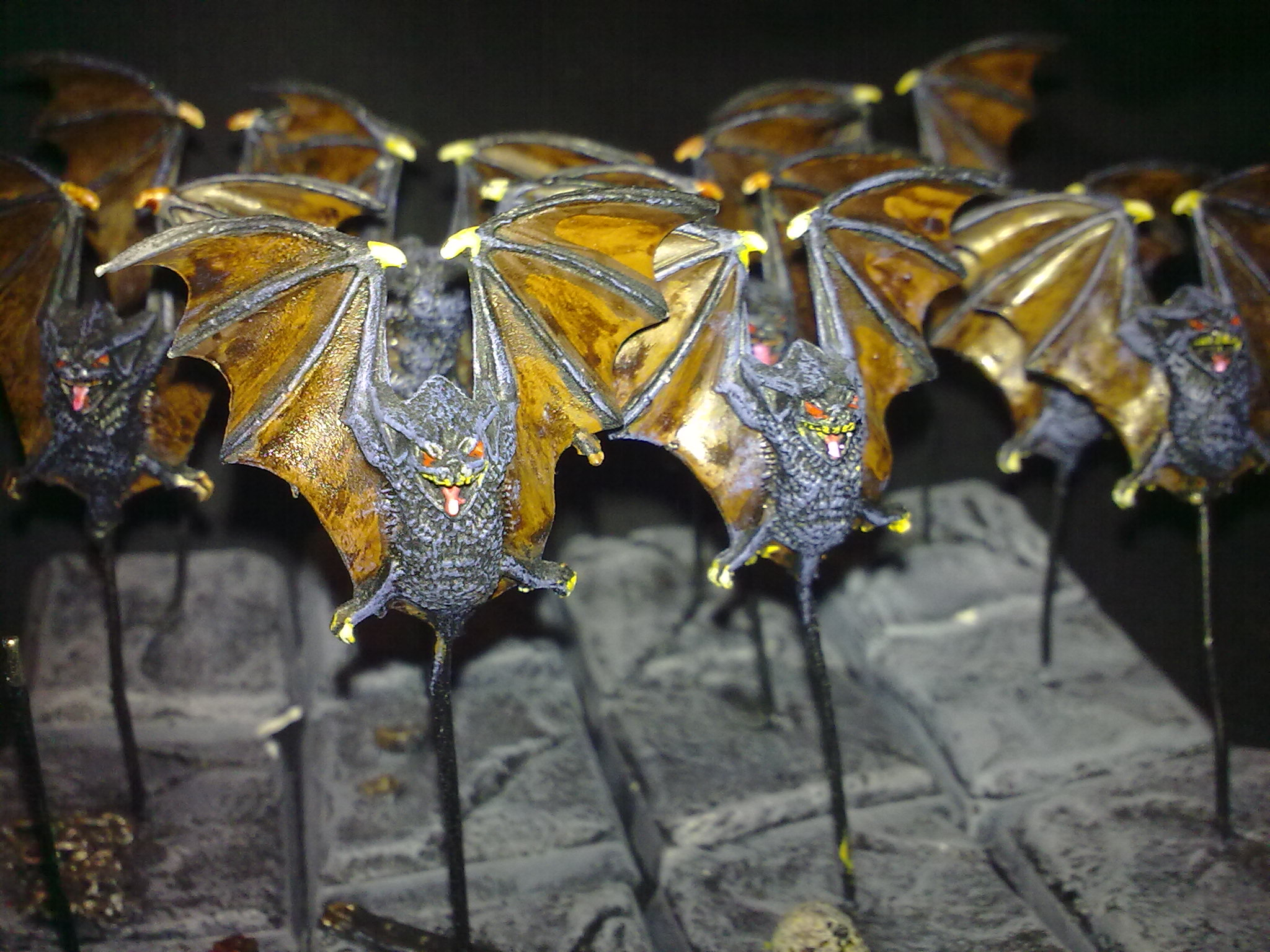Giant Bats close-up, painted by Questing Knight