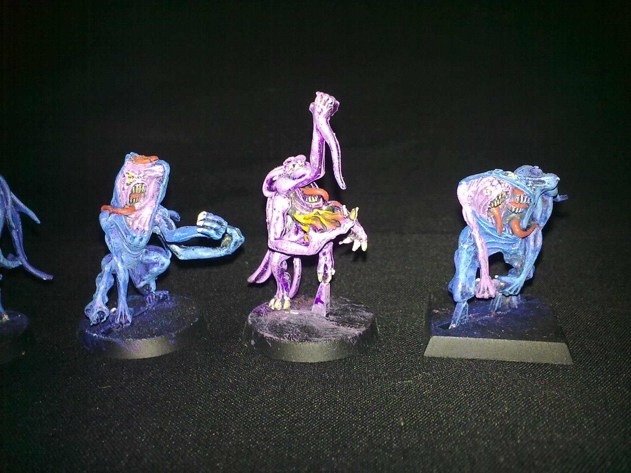Pink and Blue Horrors, painted by Questing Knight