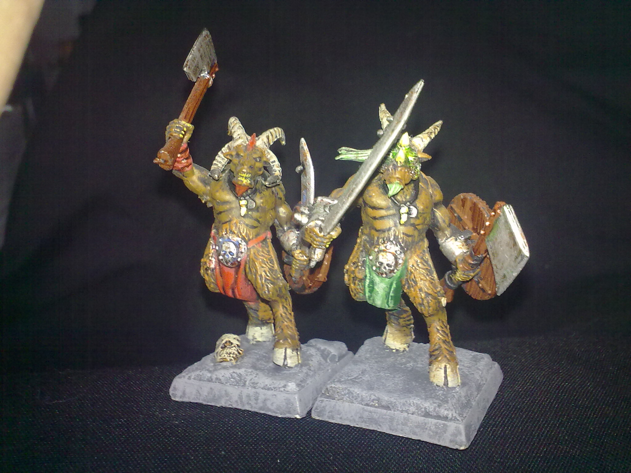 Beasmen Gors, painted by Questing Knight