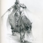 Ghostly horseman