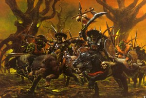 Warhammer Quest Travelling Hazard - Wolf Riders
