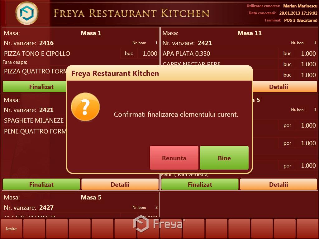 Freya Kitchen Confirmare Finalizare Comanda