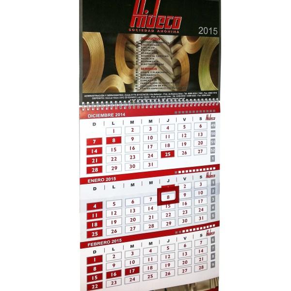 Calendario Hideco
