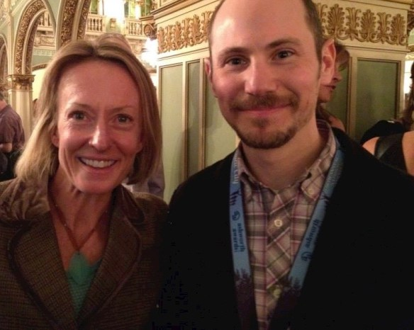 Jody with fellow Jewish runner Deena Kastor, Olympic medalist and American women's record holder in the marathon and half-marathon.