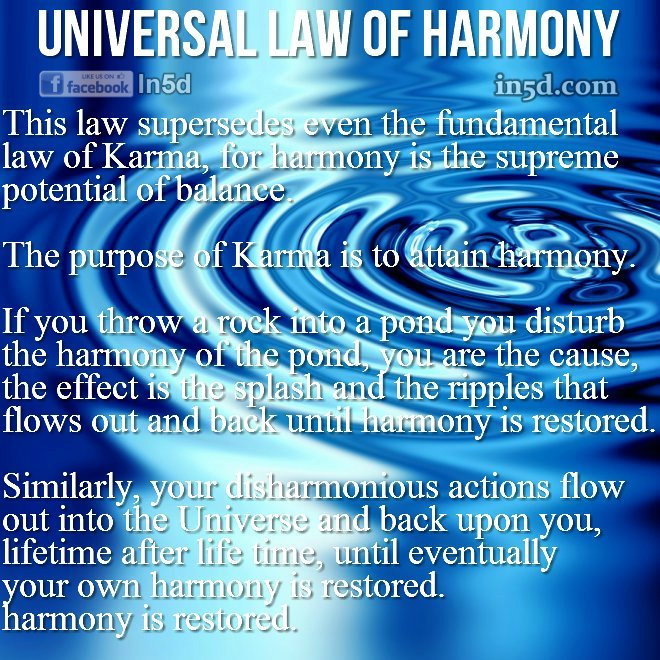 The Universal Law of Harmony | In5D.com