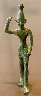 Baal; 14-12th cents. BCE; bronze Ugaritic figurine from Ras Shamra