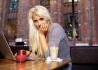 Cute girl on cafe