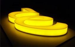 световая реклама буквы