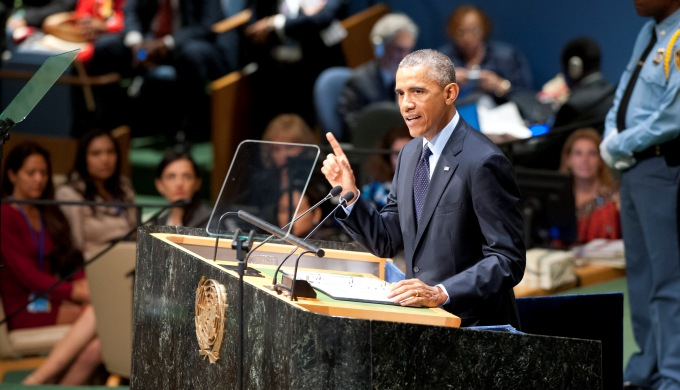 "Speaking at the UN climate summit, Obama said, big countries like the United States and China ""have a special responsibility to lead"" on how to tackle climate change. (Image by UN Photo/ Kim Haughton)"