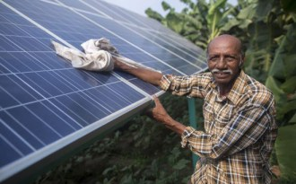 Payday for India's first solar farmer