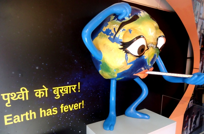 A model showing that the planet has fever (Image by Juhi Chaudhary)