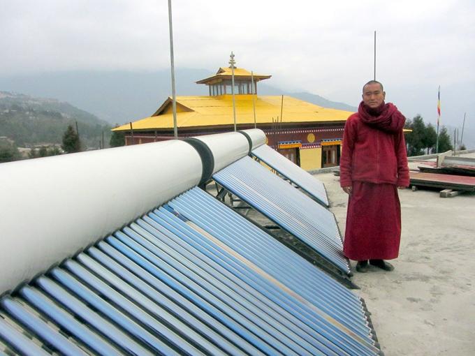 Sonam Norbu, secretary of the Sera Jey Jamyang Choekhorling Buddhist Culture Preservation [image by Nivedita Khandekar]