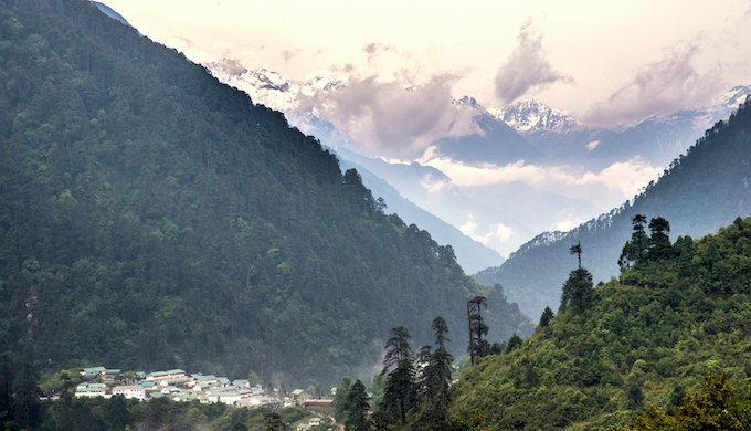 A view of the Lachen Valley.