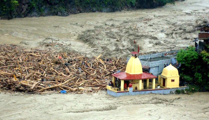 Flash floods causes massive damage every year in Uttarakhand. (Photo by AFP)