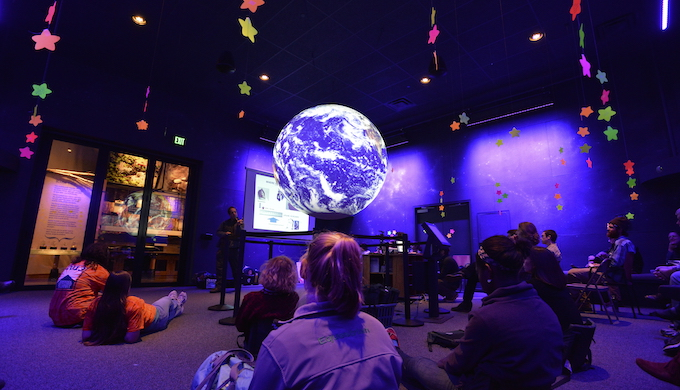 Students learning about climate change. (Photo by The Wild Center)