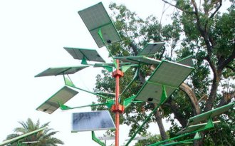 Plant solar trees, solve space problem