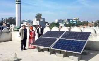 India's first all-women mosque in Lucknow is powered entirely by solar power. (Photo by 8minutes)