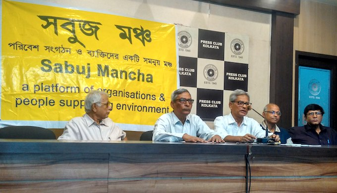 A meeting of Sabuj Mancha, an association of civil society organisations. (Photo by Jayanta Basu)