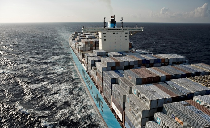 An estimated 18,000 premature deaths in China in 2013 were caused by air pollution from oceangoing ships. (Image: Maersk)