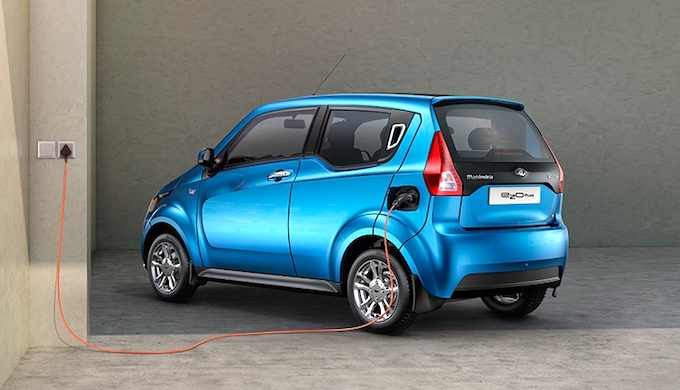The Mahindra e2o electric car has seen muted sales in India. (Photo by Mahindra Electric Mobility)