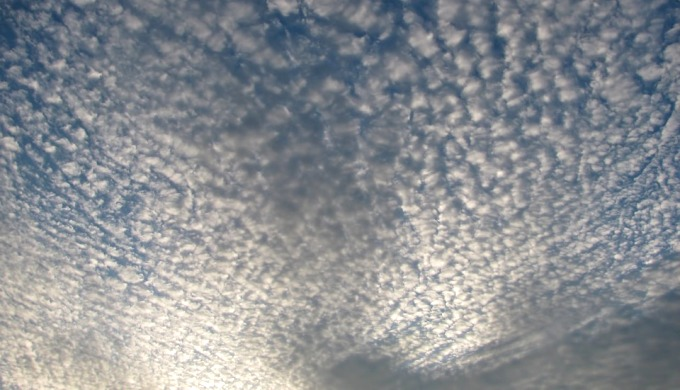 Cirrocumulus, a type of high cloud that appears as ripples (Image by Pixabay)