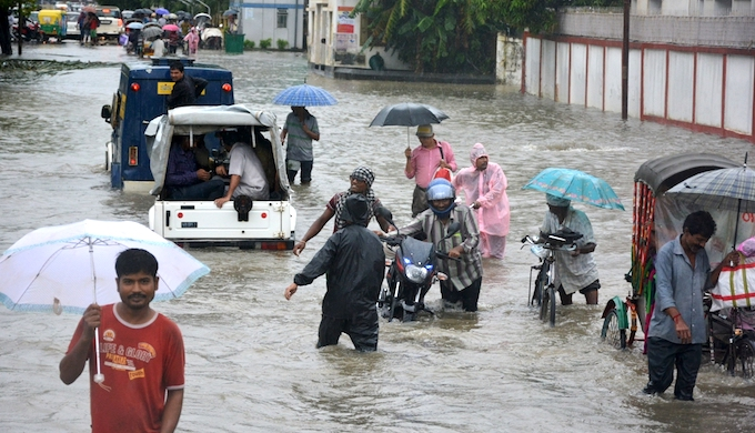 The recent floods in Agartala disrupted city life. (Photo by Tripurainfo.com)