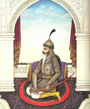 A portrait of Sikh warrior Hari Singh Nalwa