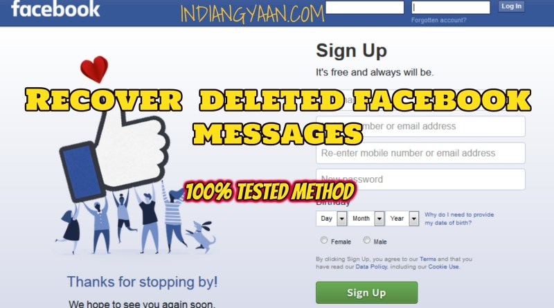 Recover facebook Message