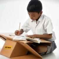 Cardboard Schoolbag-Cum-Desk For School Children In Rural India - Aarambh