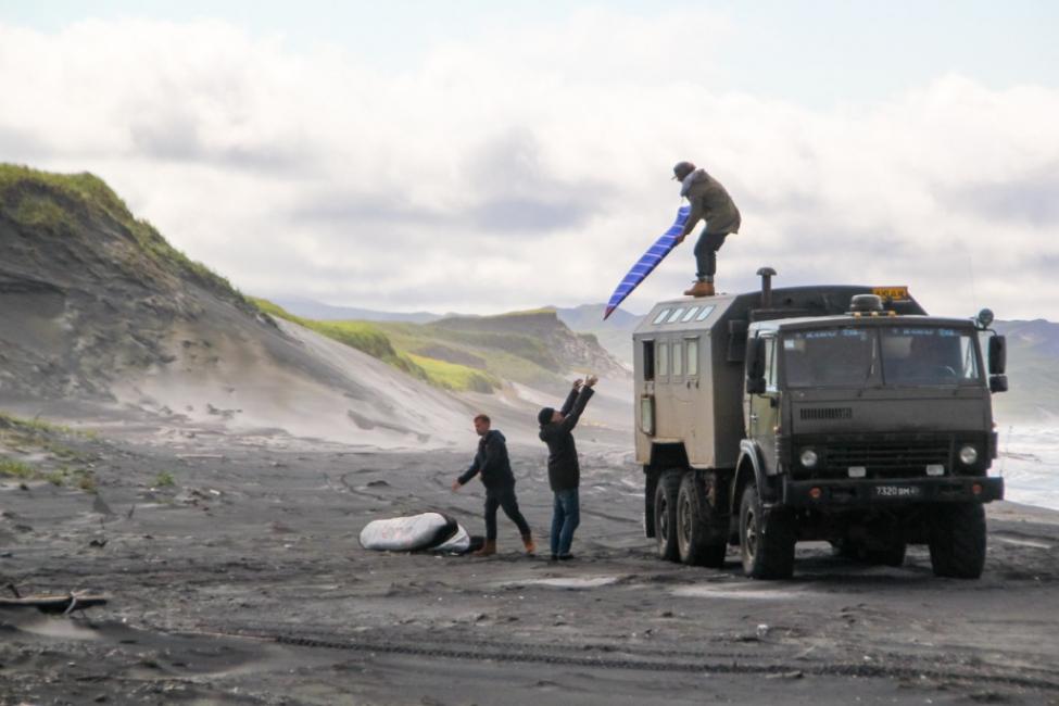 Armée iles Kouriles Siberie surf