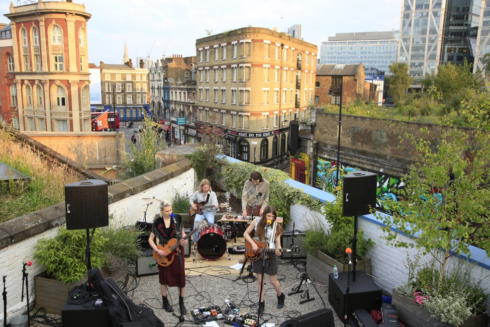 Rooftop session Village Underground London