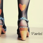 Painted Tights: Lana Red