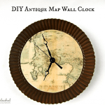 Antique Map Clock – Crafts Unleashed