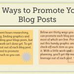 30 Ways to Promote Your Blog – LaunchGrowJoy