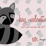 Raccon themed Valentines – Imagine Gnats