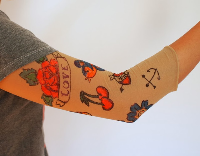 1 DIY Sleeve Tattoo Hosiery