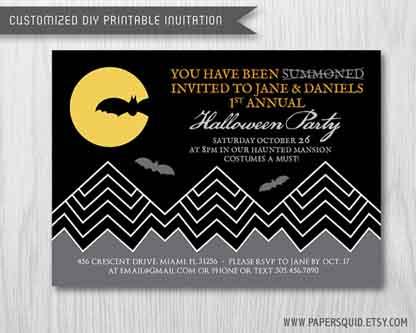 Paper Squid Inc Halloween Invite