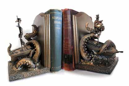 kraken bookends Dellamorteco
