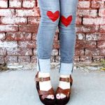 DIY Valentines Day Jeans