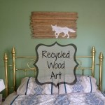 Recycled Wood Fox Wall Art