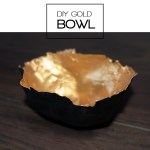 DIY Gold Papermache Bowl