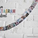 Sewn Instagram Garland