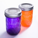 Dyed Mason Jars You can Write on!