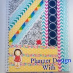 How To Design Planner Cover using Washi Tape