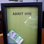DIY – Ticket Stub Frame