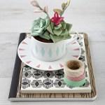 DIY Fabric Succulent Terrarium