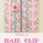 DIY hair bow holder on a canvas