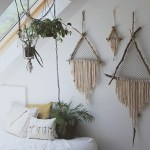 DIY Giant Triangle Driftwood Crystal Dreamcatcher